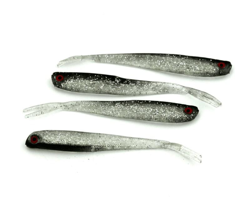 Hig Quality 8cm 3g Black Loach Soft Bait Fake Fishing Lure Lifelike Plastic Baits with Forked Tail
