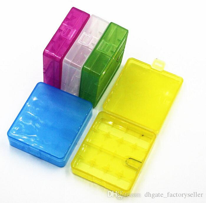 4*18650 Plastic Battery Storage Box Case 18650 Battery Holder Container Colorful For 18650 18350 14500 Battery DHL