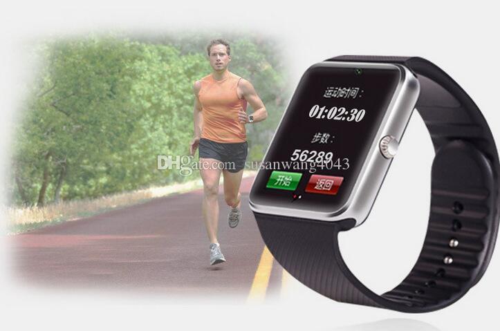 Bluetooth Akıllı İzle SIM Yuvası NFC Android IOS Sağlık için Saatler IOS iphone pedometre Smartphone Bilezik smartwatch GT08 DHL USZ101