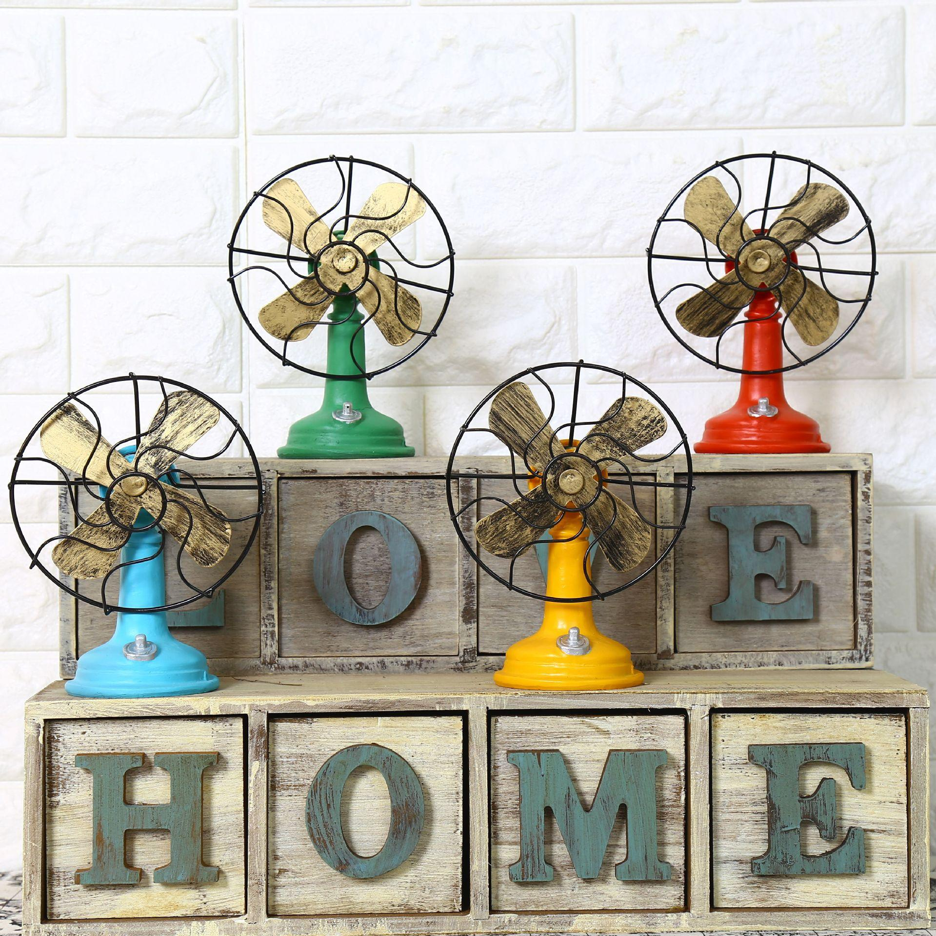 2018 Shabby Chic Fan Model Vintage Home Decor Resin Crafts Retro Home  Decoration Accessories Zakka Bar Cafe Decorated 17*13cm From Tiankonghalei,  ...
