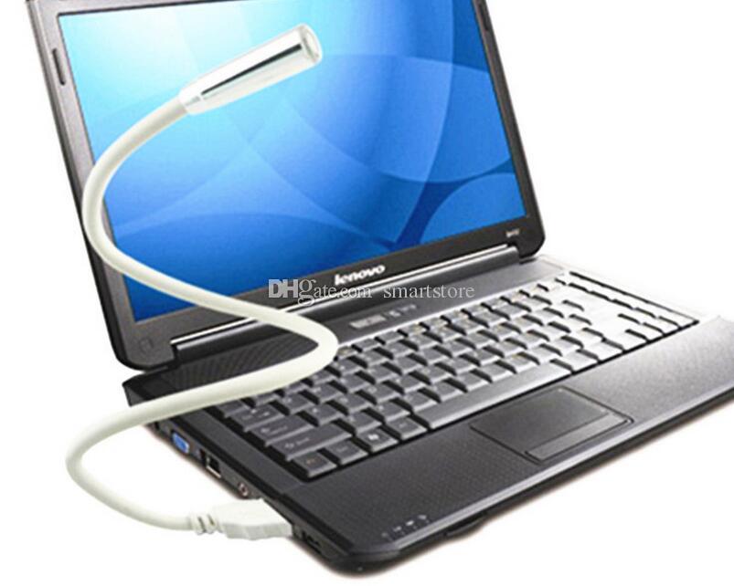 200 pz / lotto 1 LED 1 PLASTICA Flessibile Portatile USB Lampada Della Luce Notebook PC Portatile Spedizione Gratuita Da DHL o FEDEX 0001