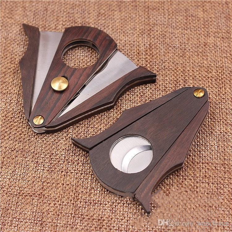 KKDUCK High Quality Cigar Cutter Wood Cigar Scissor Wooden With Stainless Steel Metal Fancy Durable
