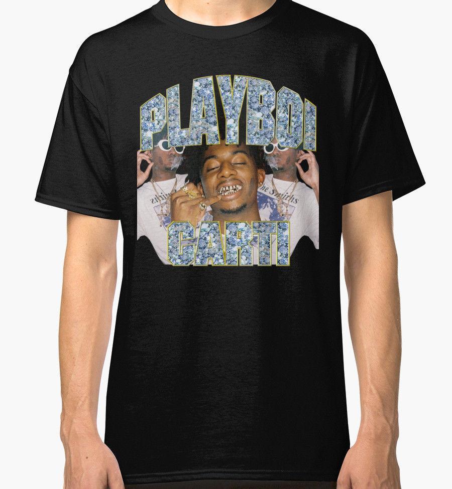 fc083f1793 Compre Playboi Carti Vintage Hip Hop Dos Homens Negros Tees Camisa  Vestuário De Bstdhgate10