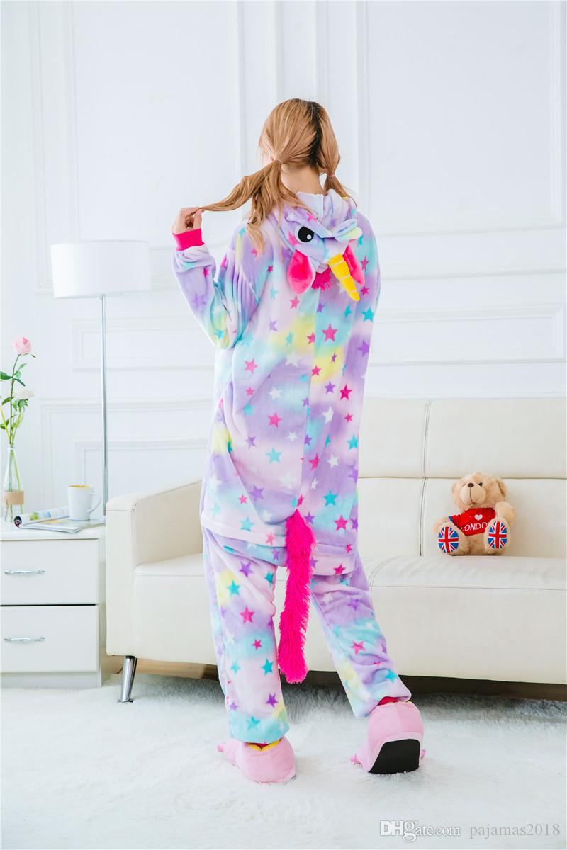 Couple Foot Pajamas Winter Adult Christmas Pajamas See Through Lady ...
