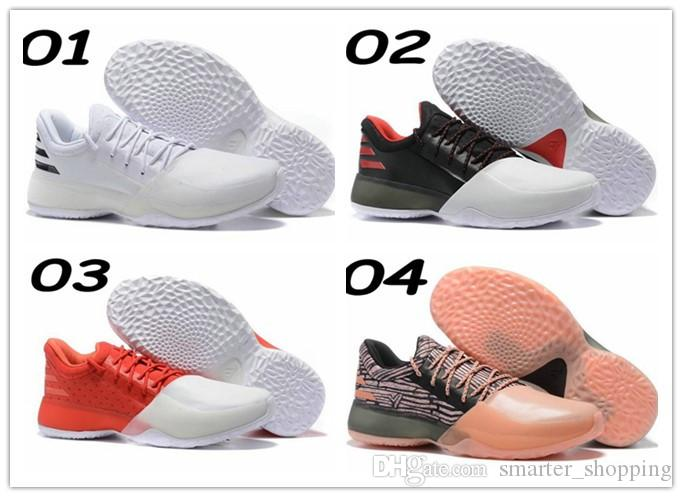 factory price be6de 6610d 2017 new man harden vol. 1 mens basketball shoes black white orange  wholesale fashion james