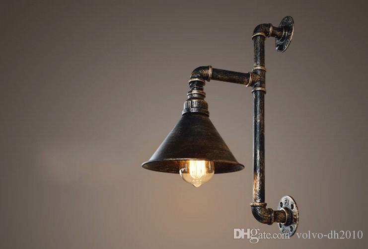 Acheter vintage industriel edison mur lampes métal deau tuyau