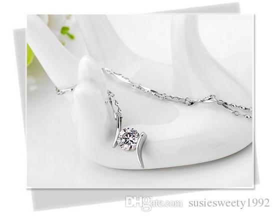 Fashion Crystal Pendant Chokers Necklaces Charms Jewelry for Weddings Sale Women Girls Cheap Match Prom Dresses WITHOUT CHAIN Necklace