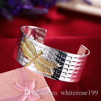 Großverkauf - Kleinster Preis des Kleinhandels Weihnachtsgeschenk, freies Verschiffen, neues silbernes Art und Weise Armband 925 B74