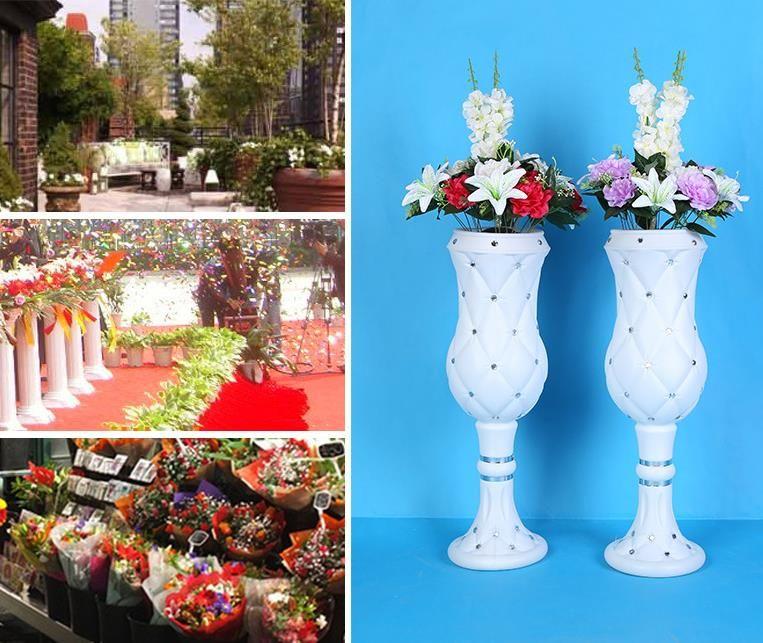 75cm high-end atmosphere viscose plastic vase wedding products wholesale wedding shop decoration Road cited WQ12