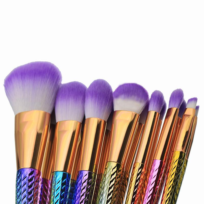 Mermaid Makeup Brushes 5/6/7 / Mermaid Tail Shape Blending Brush Blush Foundation Pennello cosmetico Coda di pesce Trucco Pennello contorno DHL Free