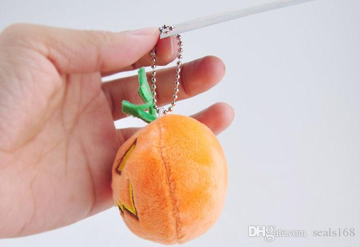 어리버리 선물 HH-T40와 9cm 할로윈 호박 봉제 완구 부드러운 봉제 인형 키 체인 펜던트 휴대 전화 가방 열쇠 고리