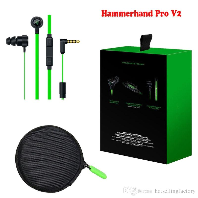 Razer Gaming Hammerhead Pro VMusic Gaming Headphones In-Ear Earphone Noise Isolation Earhubs For PC Laptop With Retail Package & MIC