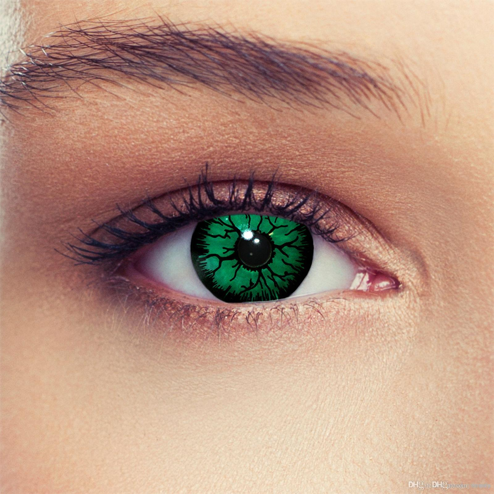 Halloween Crazy Colored Green Bioshock Contact Lenses