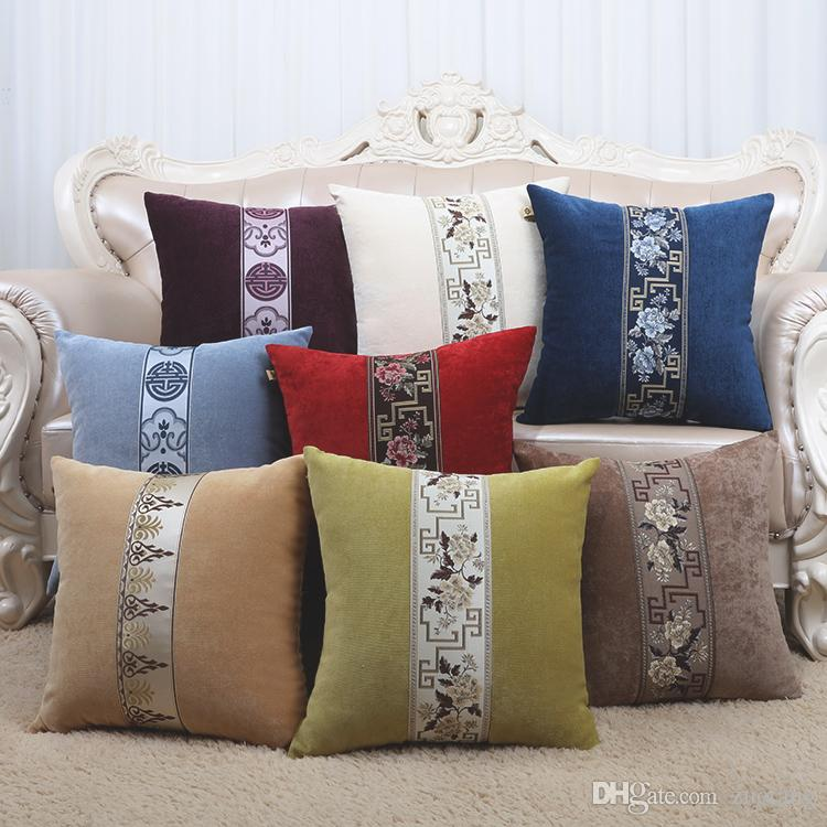 Elegant Patchwork Lace Cushion Pillow Cover 24 Inch 20 Inch 17 Inch