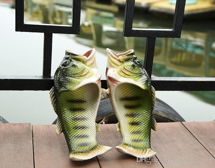 274d50c2a50 Fish Slippers Handmade Summer Fish Sandals Fish Beach Slippers Unisex  Creative Shoes Kids Couple Open Toe Flat Novelty Adult Shoes New J576  Riding Boots ...