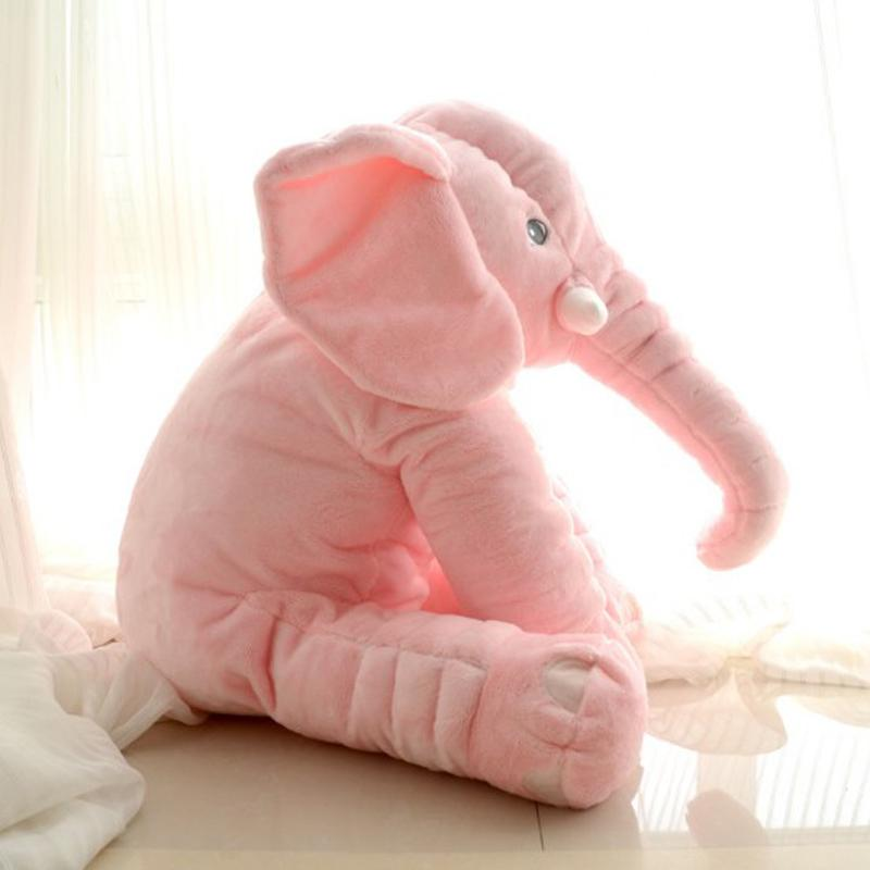 Cute Elephant Plush Toy With Long Nose Pillows Pp Cotton Stuffed