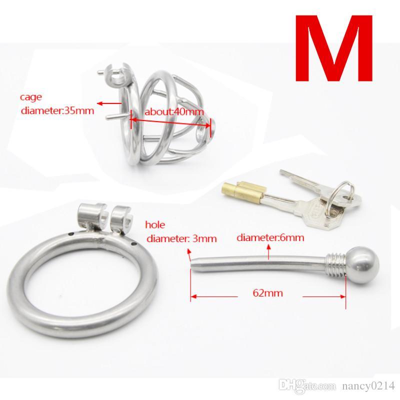 Металл целомудрие клетка петух кольца со съемным катетером звук лошадь глаз катетер трубки мужской Bodage секс-игрушки для мужчин G173