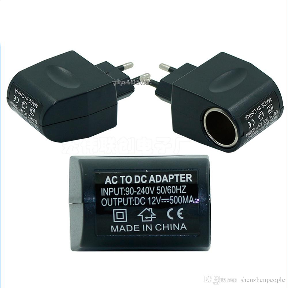 EUA / UE AC / DC EE4104 110 V-220 V AC para 12 V DC EU Car Power Adapter Converter Household Car Isqueiro Do Carro Carregador De Energia Venda quente