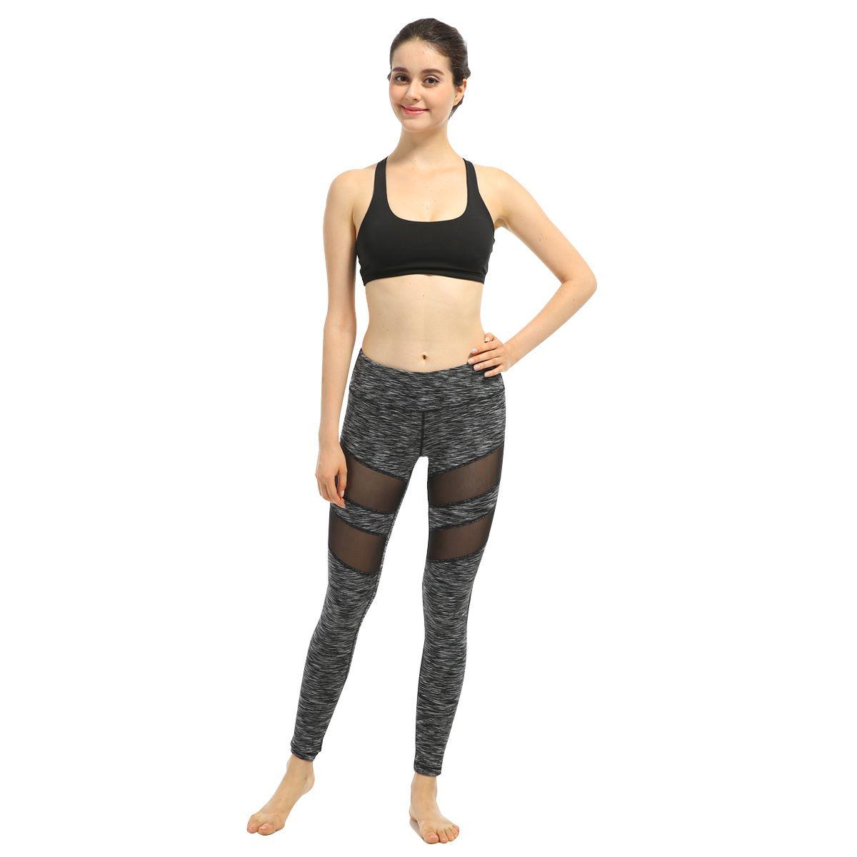 2017 frühling frauen sexy yoga sport hosen kompression leggings hohl mesh leggings gym dünne yoga fitness sportbekleidung