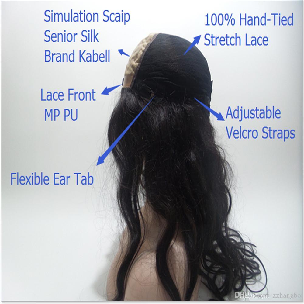 Volle Spitzeperücken Brasiliens Jungfrau ist voll von meiner Spitzeperücke und von Haar Erweiterte Seidenwebdichte 150% Linien Erweiterte Seidensimulation Kopfhautperücken