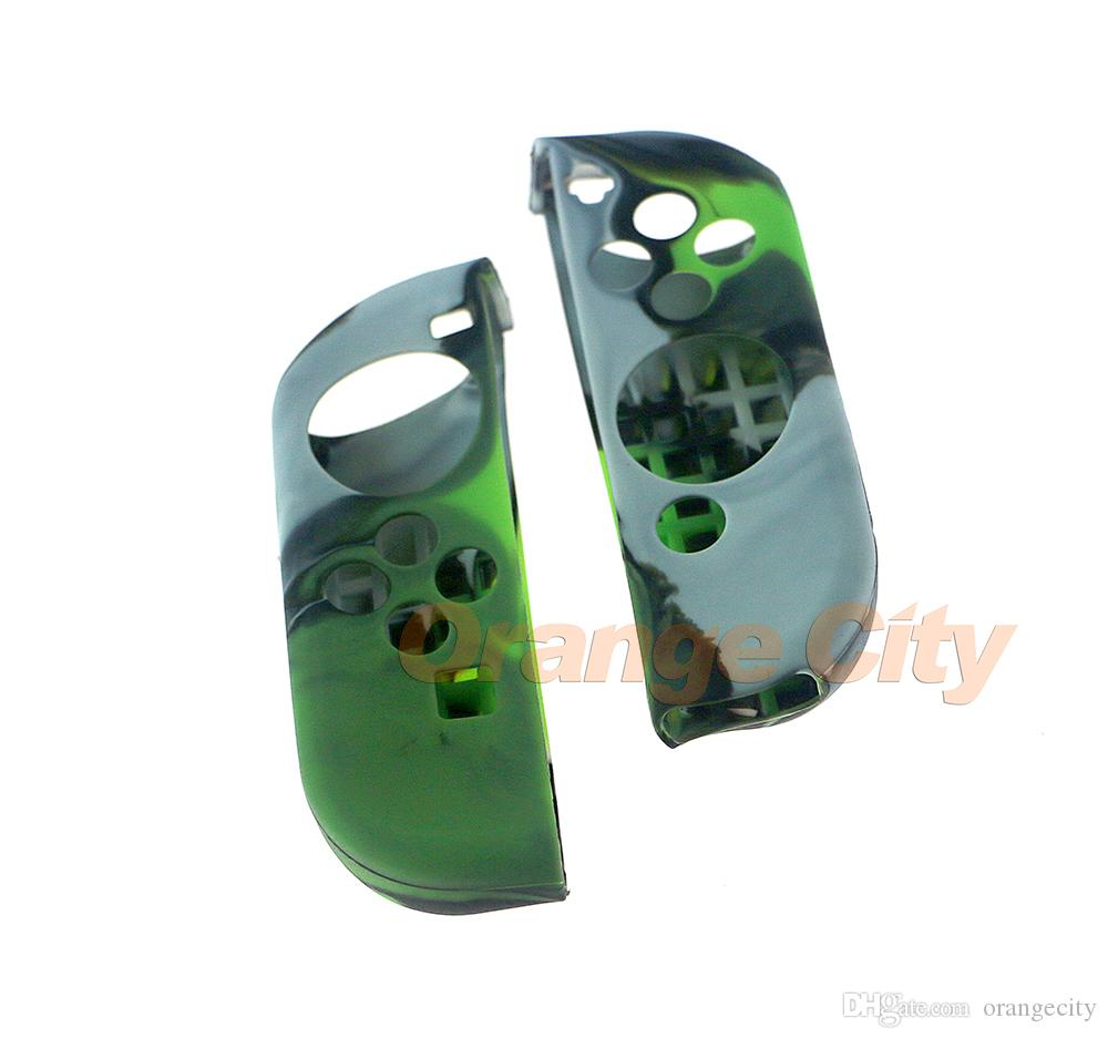 Camouflage Silicone Case Soft Anti-Slip Protective Cover Skin Thumb for Switch NS NX Joy-Con Controller