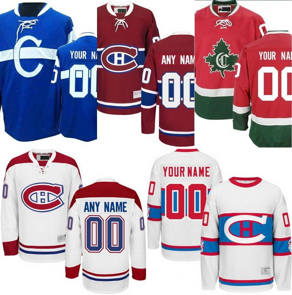 2019 Custom Montreal Canadiens Blue Home Red CH CD Jerseys Personalized  Canadiens Customized Away White 2016 Winter Classic Hockey Jerseys S 4XL  From ... 2d7d8cc316a