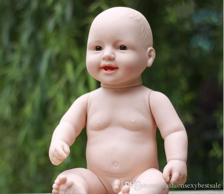 !50CM simulation baby rebirth dolls soft Ruanjiao / baby bath lovely children early education toys mannequin B267