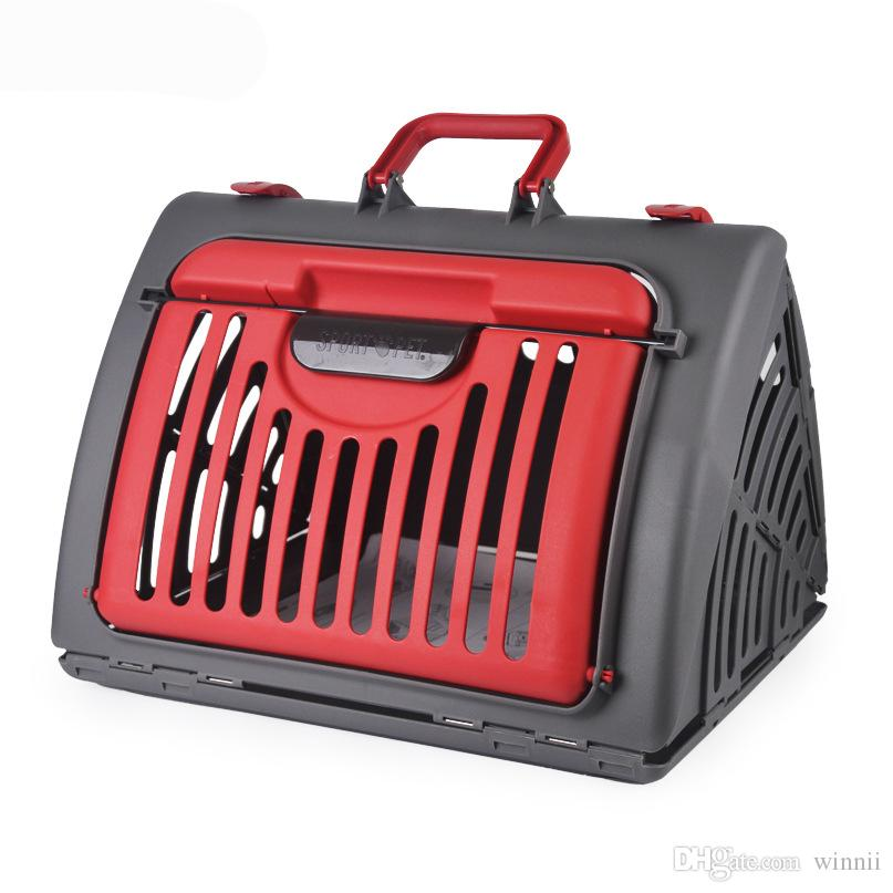 5dd05ef389 2019 Pet Carrier Box Aircraft Air Transport Collapsible Cats Dog Carrier  Checked Out Box Small Cat Dog Carrier Foldable Car Accessories From Winnii,  ...
