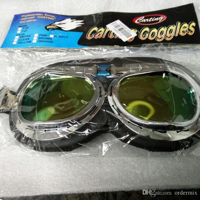 سكوتر الطيار نظارات خوذة خمر مكافحة الأشعة فوق البنفسجية دراجة نارية خوذة نظارات موتوكروس