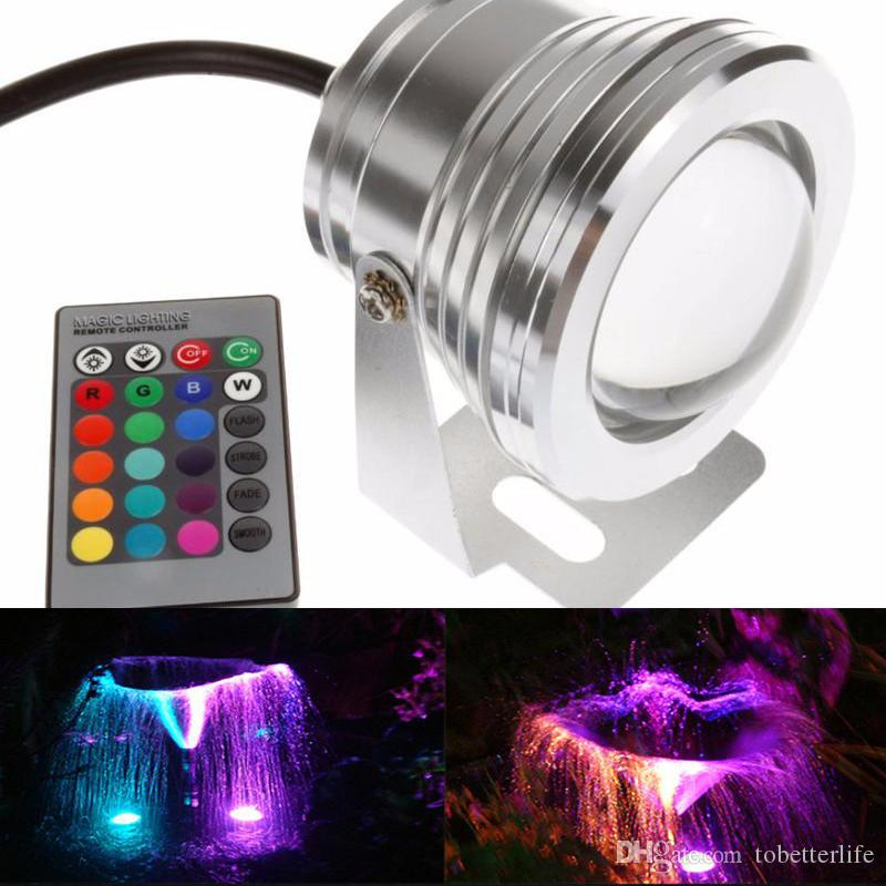 2019 10W Waterproof Swimming Pool Lights LED Underwater Spotlight 12 ...