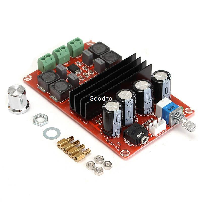 Freeshipping 100W 12V~24V TPA3116D2 Dual Channel Digital Audio Amplifier  Board For Arduino High efficiency Audio Amplifier