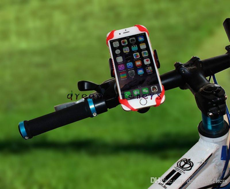Bike Spider Web Bicycle Stand Holder Phone Holder Handlebar Clip Stand Mount Bracket holder 360 Degree for iphone7 Samsung Cell phone GPS