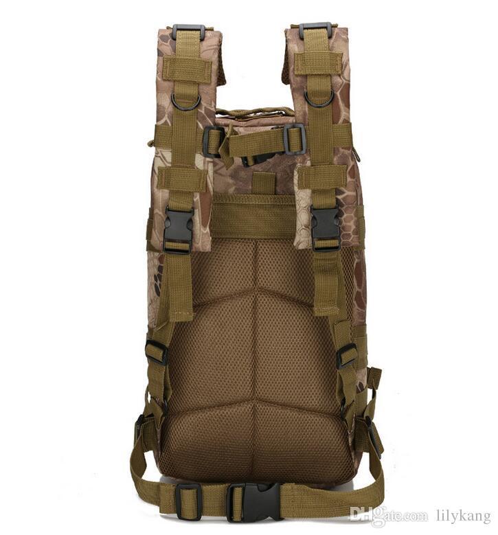 Mochilas do exército multifuncional 30L 3P mochila à prova d 'água ao ar livre trekking acampamento de acampamento esporte mochilas mochilas bolsa de ombro de ciclismo