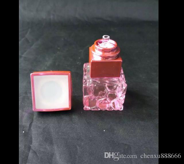 물 큐브 색깔의 주전자 냄비 봉 액세서리, 유리 물 파이프 담배 파이프 Percolator 유리 봉 오일 버너 워터 파이프 석유 굴착 S