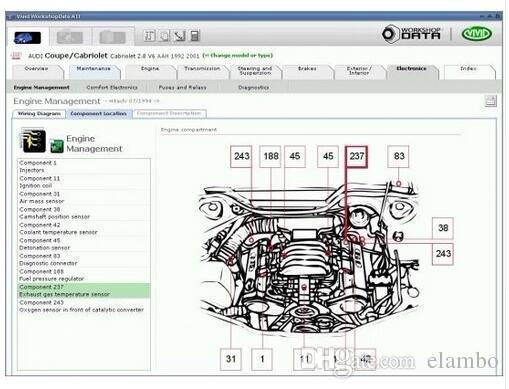 10.2 Vivid Workshop Service Manual Electrical Wiring Diagram Maintenance Flat Vivid Workshop data ati auto software