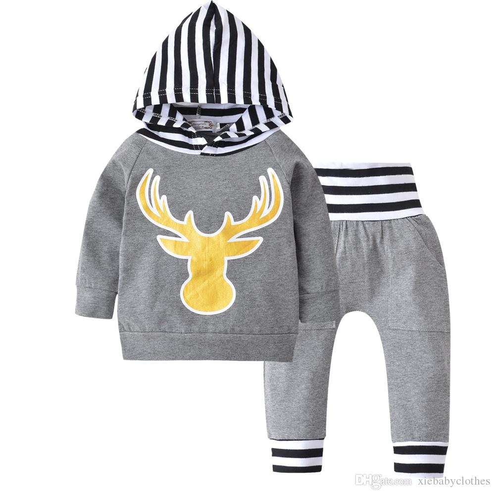 ad8a15f96 Newborn Baby Boy Clothes Infant Baby Boys Clothing Set Cute Deer ...