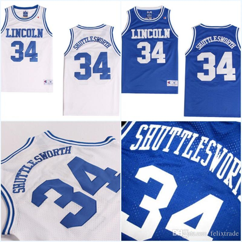 cheap for discount cf933 cadb4 #34 Jesus SHUTTLESWORTH Jersey Men Best Quality Lincoln He Got Game Movie  Basketball Jerseys High Quality Free Shipping