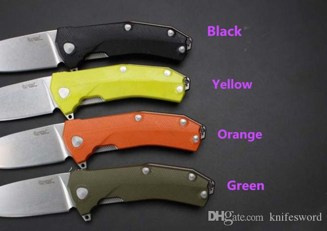 OEM Lionsteel KUR Italy folding knife Special Sleipner Blade material Double-sided G10 handle material 60HRC High quality knife