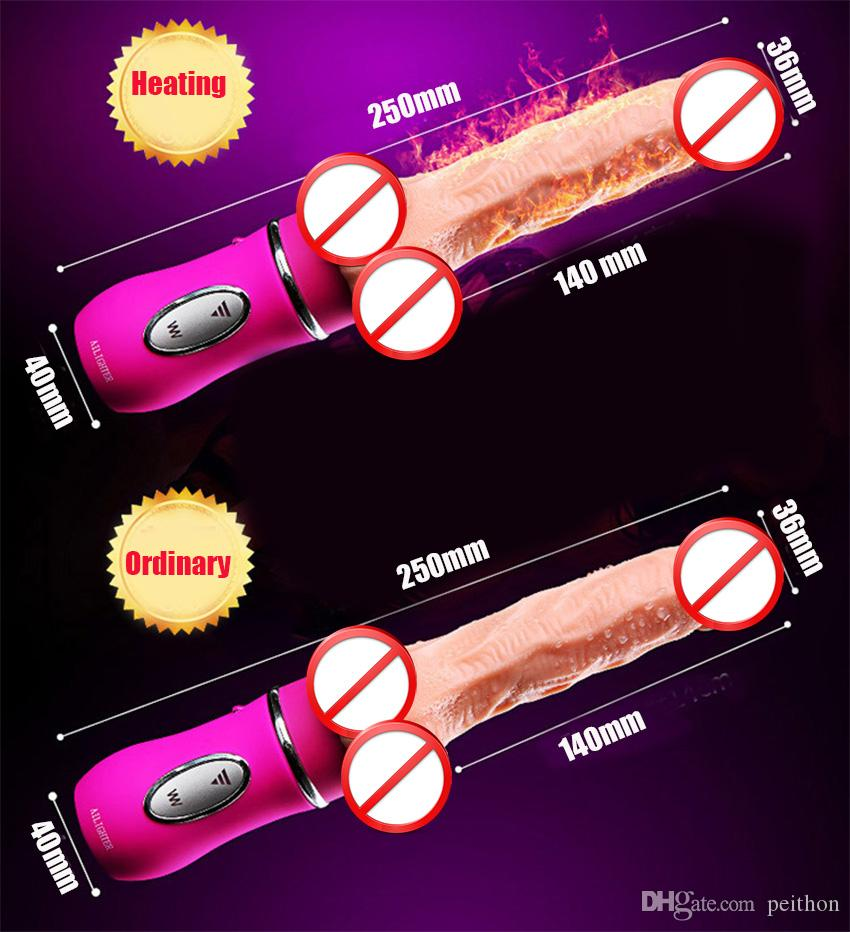 Automatic Telescopic Thrusting Lover Vibrator Heating Dildo Vibrator Big USB SiliconeSex Toys Anal & Vagina Stimulator Sex Machine For Wome