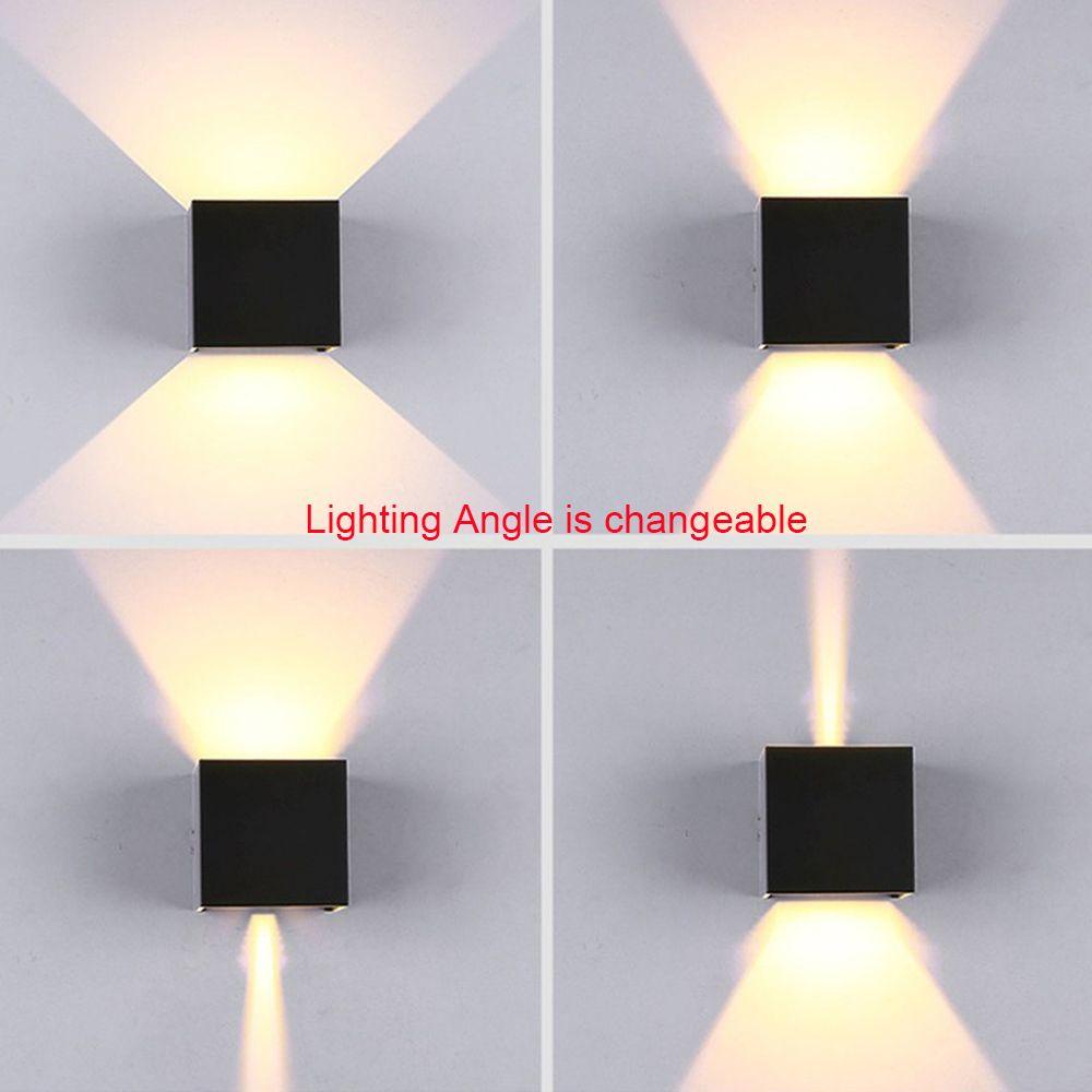 Modern Su Geçirmez Küp Ayarlanabilir 12 W COB açık LED duvar lambası IP65 Alüminyum Duvar Işıkları Bahçe sundurma Aplik Dekorasyon Işık