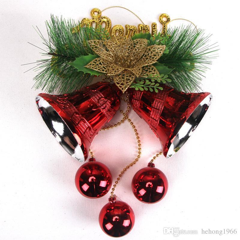 Рождественская елка подвески декор с колокол мяч сосновые иглы сцена реквизит Рождественский венок свадьба украшение горячая 10mx Ф Р