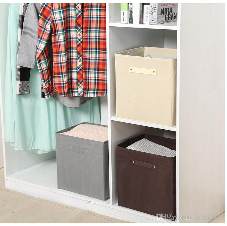 Fabric Cube Storage Bins, Foldable, Premium Quality Collapsible Baskets,  Closet Organizer Drawers Storage Box Fabric Cube Storage Storage Bins  Online With ...