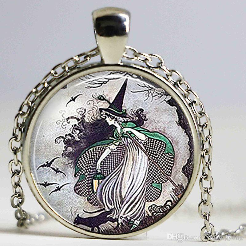 Wholesale cute fairytale witch pendant fairy tale witch necklace wholesale cute fairytale witch pendant fairy tale witch necklace jewelry handmade halloween jewellry birthday gift for woman children kids heart pendants aloadofball Image collections