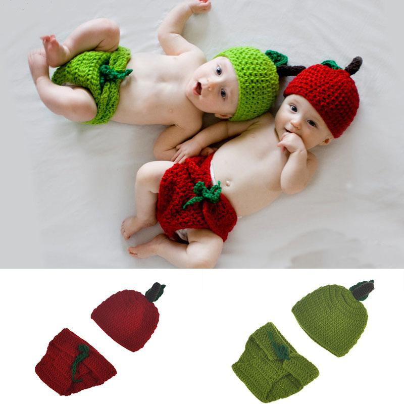 392e18c959d Fruit Shape Crochet Set Photography Props Design Baby Newborn Photo Props Knitted  Baby Costume Crochet Baby Hat Set BP051 My Girl Doll Accessories Best Baby  ...
