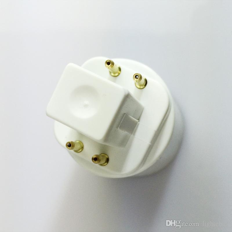 2 Pins oder 4 Pins G24-Stecker auf E27-Buchse G24d G24q auf E26 E27-Sockelhalter für Glühlampen-Sockelhalter