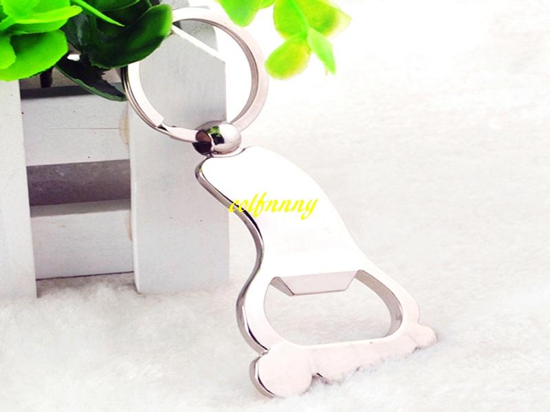 Fast Shipping Sole Shaped Bottle Opener Keychain shaped zinc alloy Key Ring Beer Bottle Opener Creative Gift