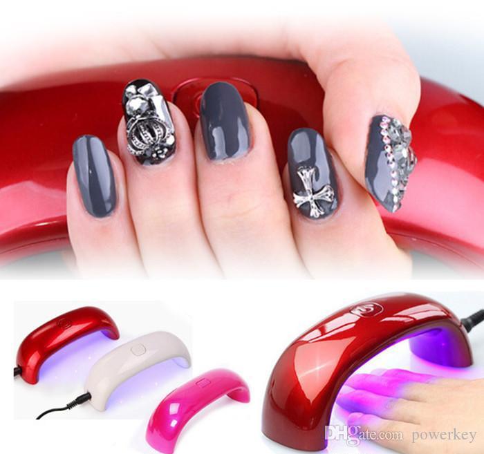 Colorful Top Quality 9w Cute Nail Art Gel Polish Lampada Led UV Light Dryer Nail Finger Dry alla moda