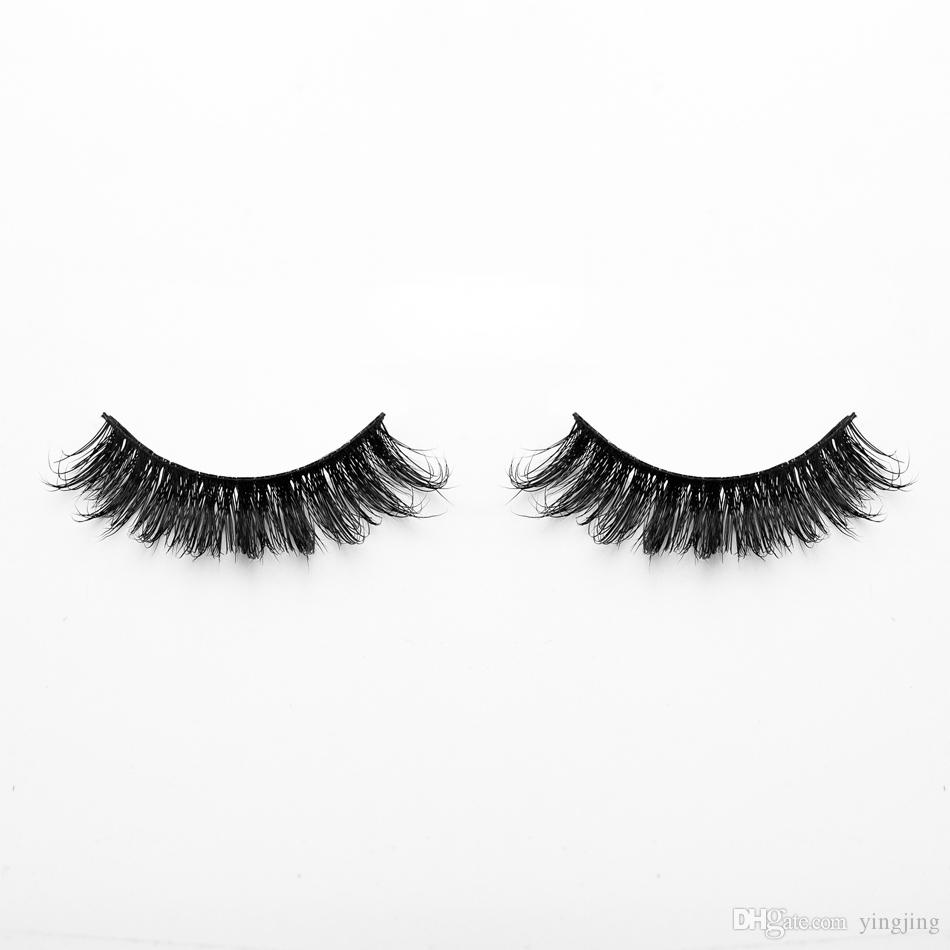 1 Reife Dame Damen Make-Up Falsche Wimpern 3D Nerz Wimpern Lange Schwarz Nautral Handgemachte Make-Up Schönheit Werkzeuge