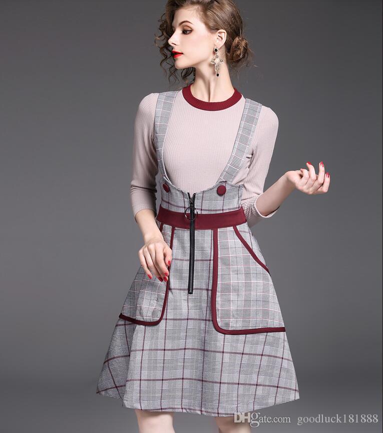 d0680c273 Compre Nueva Moda De Otoño Para Mujer Conjuntos De Dos Piezas