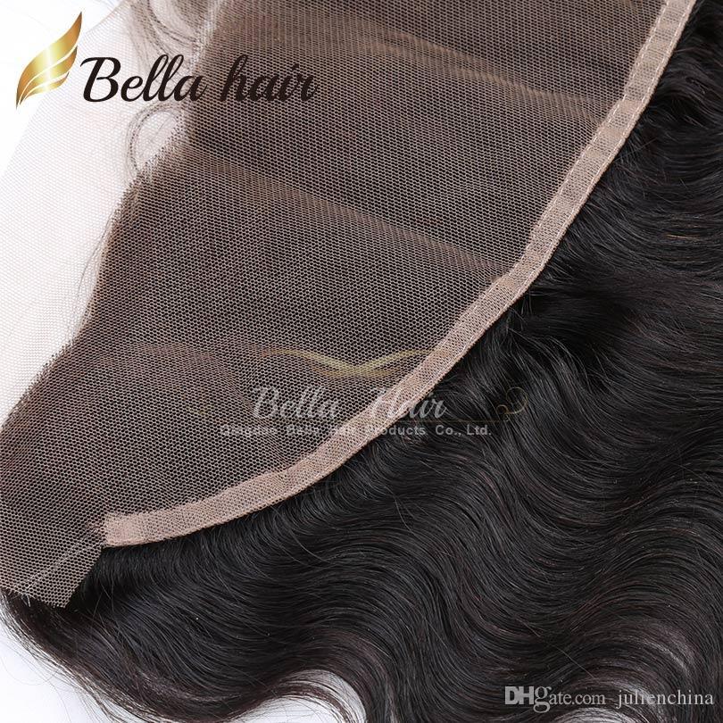 Body Wave Oreja a oreja Cierre frontal de encaje Extensiones indias de cabello humano Cierre de encaje Envío gratis Productos para el cabello Bella
